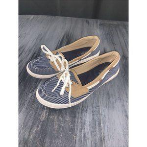 Keds Blue & White Boat Shoes